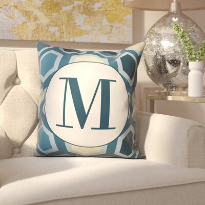 Hartig Hexagon Monogram Pillow Letter: M