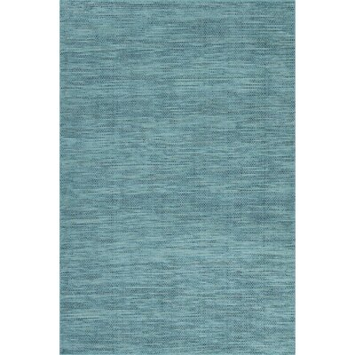 Minh Hand-Woven Teal Area Rug Rug Size: Rectangle 36 x 56