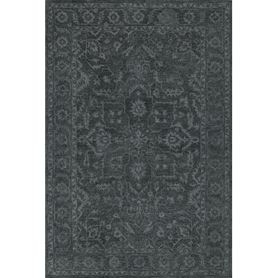 Chatmon Hand-Tufted Wool Midnight Area Rug Rug Size: Rectangle 5 x 76