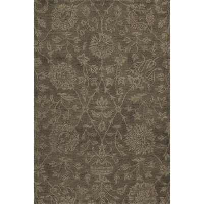 Chatmon Hand-Tufted Wool Mocha Area Rug Rug Size: Rectangle 36 x 56