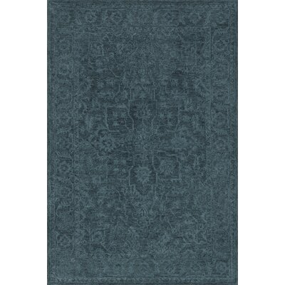 Chatmon Hand-Tufted Wool Navy Area Rug Rug Size: Rectangle 5 x 76