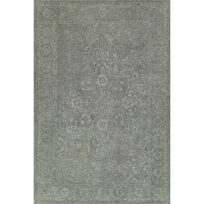 Chatmon Hand-Tufted Wool Silver Area Rug Rug Size: Rectangle 36 x 56