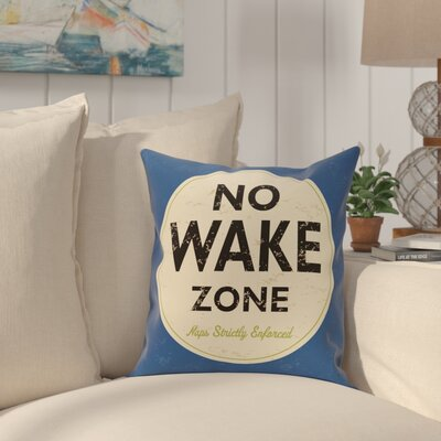 Golden Beach Nap Zone Word Throw Pillow Size: 26