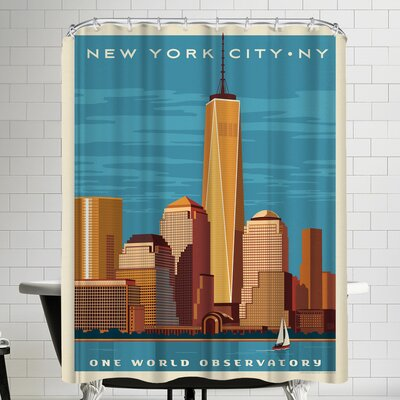 New York One World Observatory Shower Curtain