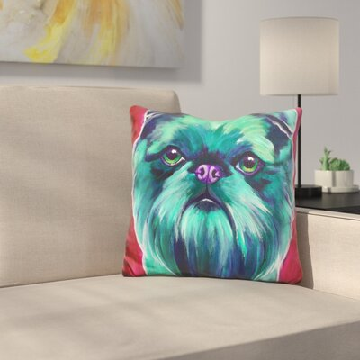 Reece Bottle Brussels Griffon Throw Pillow