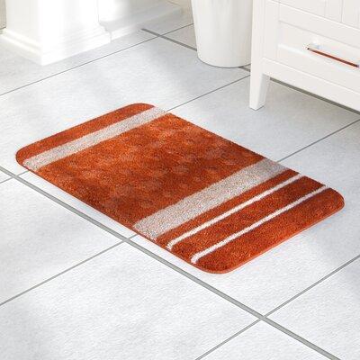 Austintown Bath Rug Color: Orange, Size: Small