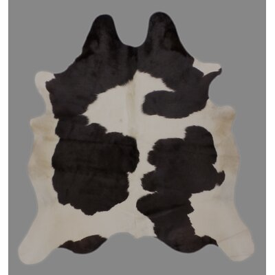 One-of-a-Kind Cravens Holando Hand-Woven Cowhide Black/White Area Rug