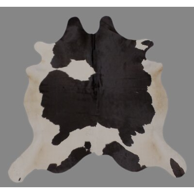 One-of-a-Kind Crawfordsland Holando Hand-Woven Cowhide Black/White Area Rug