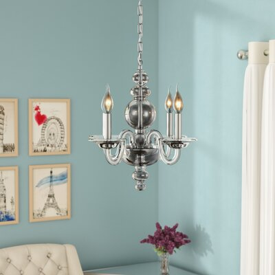 Elissa 4-Light Mini Chandelier Finish: Chrome