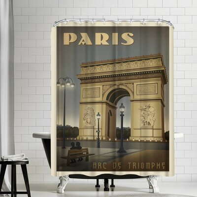France Paris Arc De Triomphe Shower Curtain