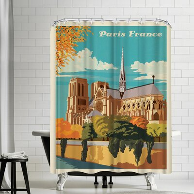 France Paris Notre Dame Shower Curtain