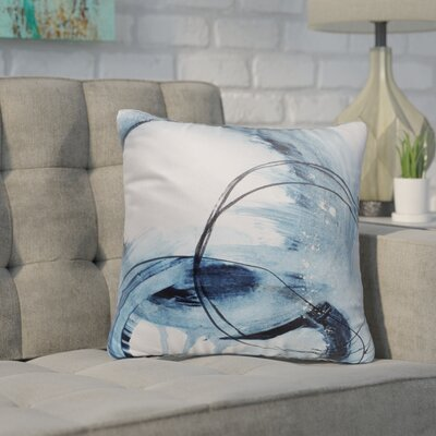 Kingston Blue Set Four Indoor/Outdoor Pillow Size: 18 H x 18 W x 8 D