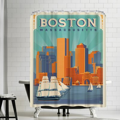 Boston Harbor Shower Curtain
