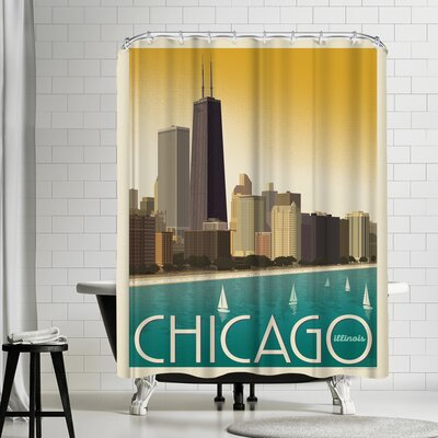 Chicago Modern Skyline Shower Curtain