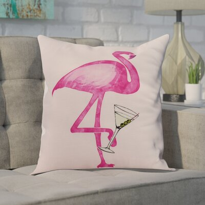 Carmack Single Flamingo Throw Pillow Color: Pink, Size: 18 x 18