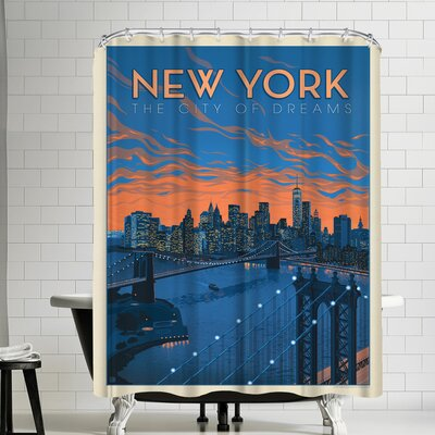 New York CIty of Dreams Shower Curtain