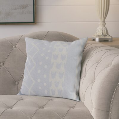 Kaylor Pattern Stripe Indoor/Outdoor Throw Pillow Color: Light Blue, Size: 16 x 16