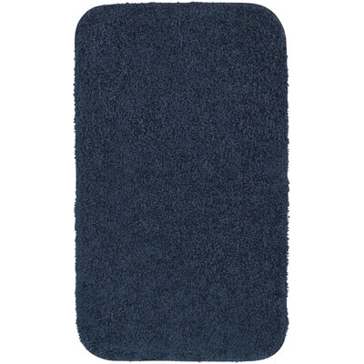 Banwell Bath Rug Size: 17 W x 24 L, Color: Dark Blue