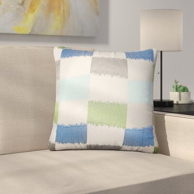 Rowen Geometric Throw Pillow Color: Blue/Green