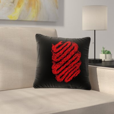 BarmalisiRTB Fire Snake Wildlife Outdoor Throw Pillow Size: 16 H x 16 W x 5 D