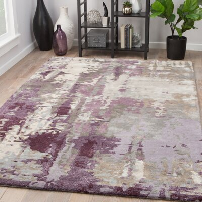 Fleishman Hand-Tufted Pumice Stone/Brindle Area Rug Rug Size: Rectangle 5 x 8