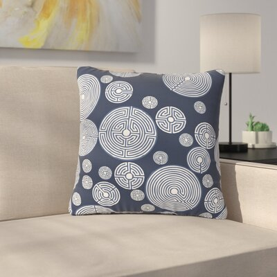 Laura Nicholson Indigo Labyrinths Outdoor Throw Pillow Size: 16 H x 16 W x 5 D