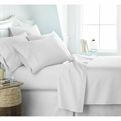 Twitchell 400 Thread Count 100% Cotton Sheet Set Size: Full, Color: White