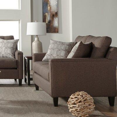 Longshore Loveseat Upholstery: Brownstone