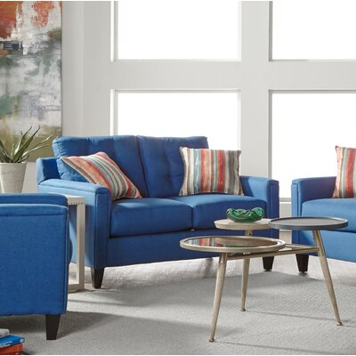 Longshore Loveseat Upholstery: Denim