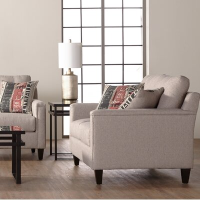 Longshore Loveseat Upholstery: Light Gray