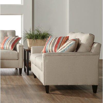Longshore Loveseat Upholstery: White