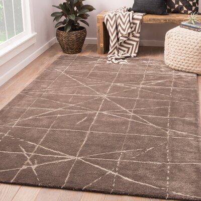 Glendale Heights Hand-Tufted Bungee Cord/Gray Morn Area Rug Rug Size: Rectangle 9 x 13