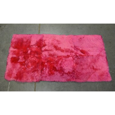 One-of-a-kind Heiss Shearling Hand-Woven Sheepskin Rose Area Rug Rug Size: Rectangle 2 x 4
