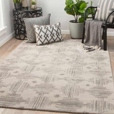 Pangle Hand-Tufted Simply Taupe/Charcoal Gray Area Rug Rug Size: Rectangle 5 x 8