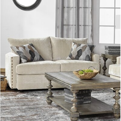 Hesse Loveseat Upholstery: Darker White