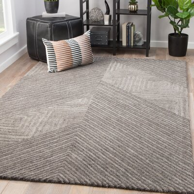 Sargeant Hand-Tufted Wool December Sky/Charcoal Gray Area Rug Rug Size: Rectangle 8 x 11