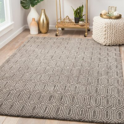 Cepeda Hand-Tufted Wool December Sky/Charcoal Gray Area Rug Rug Size: Rectangle 2 x 3