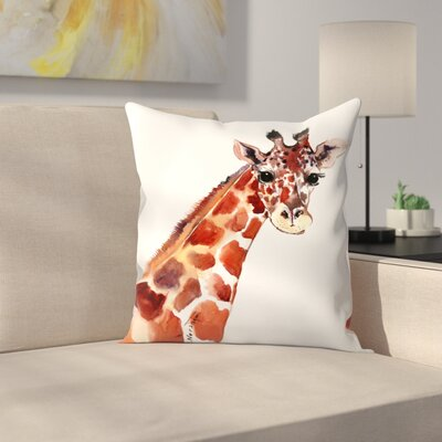 Giraffe 1 Throw Pillow Size: 20 x 20