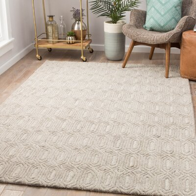 Cepeda Hand-Tufted Wool Rainy Day/Pumice Stone Area Rug Rug Size: Rectangle 5 x 8