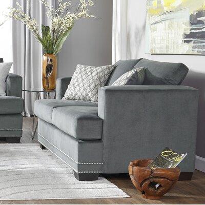 Heslin Loveseat Upholstery: Gray