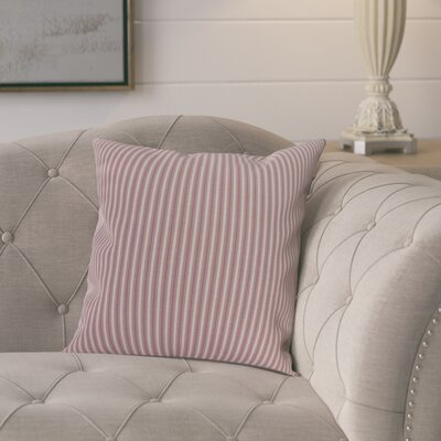 Kaylor Ticking Stripe Indoor/Outdoor Throw Pillow Color: Purple, Size: 20 x 20