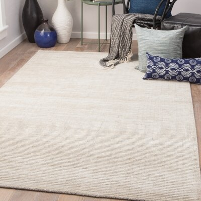 Eastvale Hand-Woven London Fog/Oatmeal Area Rug Rug Size: Rectangle 9 x 12