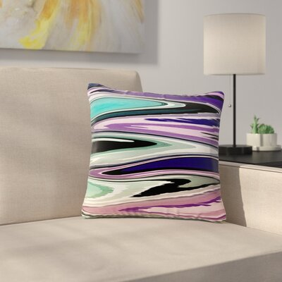 Beach Waves Throw Pillow Size: 18 H x 18 W x 6 D, Color: Multi