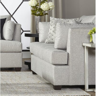 Perryman Loveseat Upholstery: Pearl