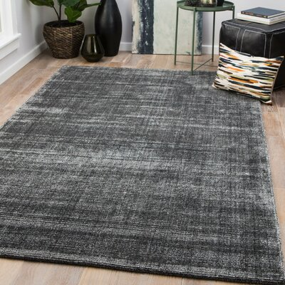 Widener Hand-Woven Gray Area Rug Rug Size: Rectangle 2' x 3'