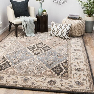 Frisby Hand-Tufted Wool Light Gray/Satellite Area Rug Rug Size: Rectangle 8 x 10