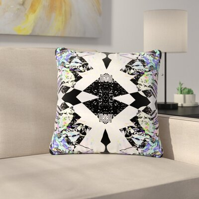 Vasare Nar Abstract Zebra Outdoor Throw Pillow Size: 16 H x 16 W x 5 D