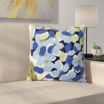 Brad Blue Hydrangea Throw Pillow