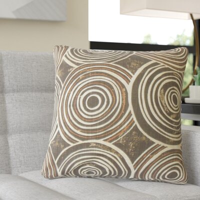 Puleo Geometric Cotton Throw Pillow Color: Brown