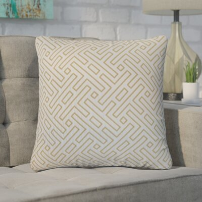 Kibler Cotton Throw Pillow Color: Silver, Size: 20 x 20